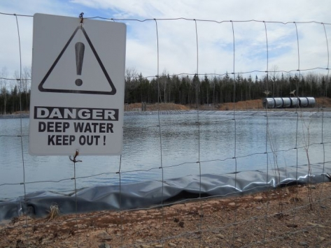 Fracking wastewater pond in Hants County